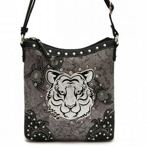 Handbags - Cowgirl trendy tiger messenger bag